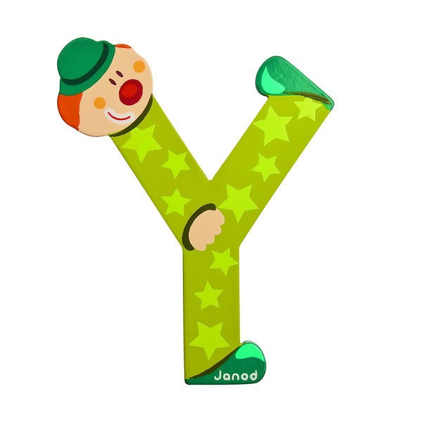 Janod Wooden Letter Y Clown Design Jack and Jill Kidswear
