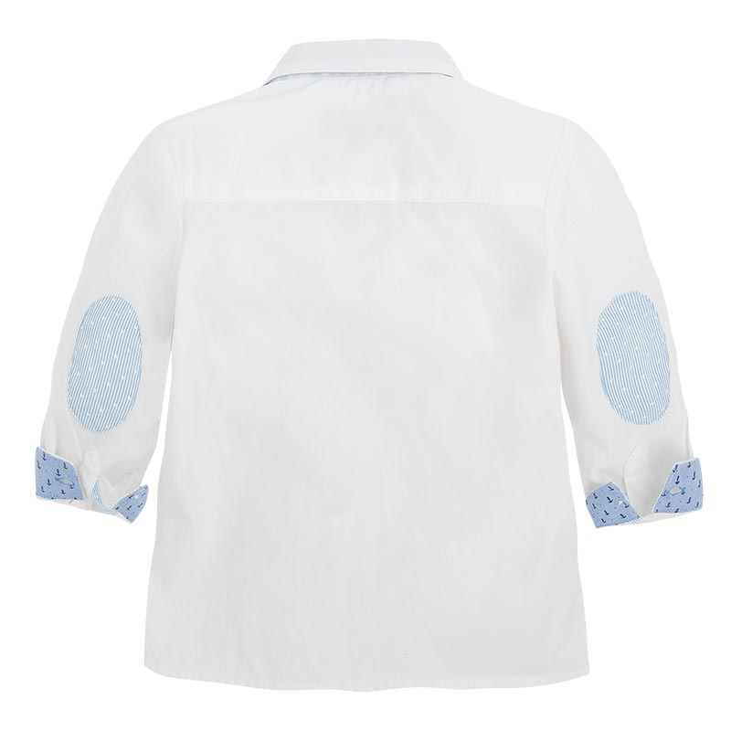 2df627eec6ed Mayoral SS15 Baby Boys White Long Sleeved Shirt - Jack and Jill Kidswear