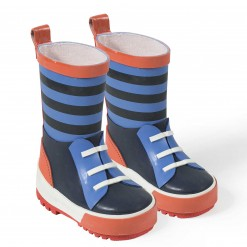 Pre-Order Catimini AW15 MB Urban Global Mix Blue Striped Wellingtons