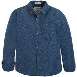 Pre-Order Mayoral AW15 Older Boys Indigo Denim Shirt