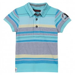 Pre-Order Catimini SS16 MB Spirit Curacao Blue Striped Polo Shirt