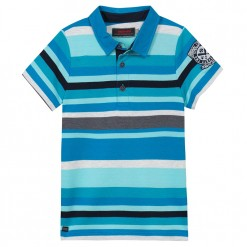 Pre-Order Catimini SS16 KG Spirit Lagoon Blue Striped Polo Shirt