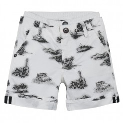 Pre-Order Catimini SS16 MB Urban Global Mix Ecru Printed Bermuda Shorts