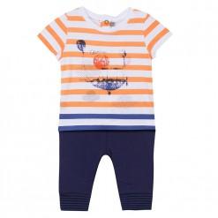 Pre-Order Catimini SS16 BB Spirit Couleur Orange Striped T-Shirt Set