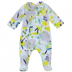 Pre-Order Catimini SS16 BG Spirit City White Patterned Sleepsuit