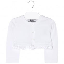 Mayoral SS16 Toddler Girls White Cropped Cardigan