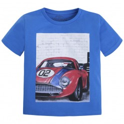 Mayoral SS16 Mini Boys Royal Blue Car Print T-Shirt