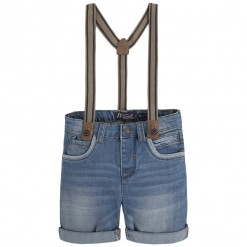 Mayoral SS16 Mini Boys Blue Denim Shorts with Braces