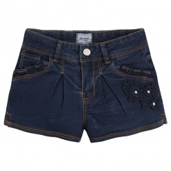 Mayoral SS16 Mini Girls Indigo Blue Denim Shorts