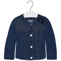 Mayoral SS16 Mini Girls Indigo Blue Denim Jacket