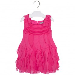 Mayoral SS16 Mini Girls Fuchsia Ruffle Dress