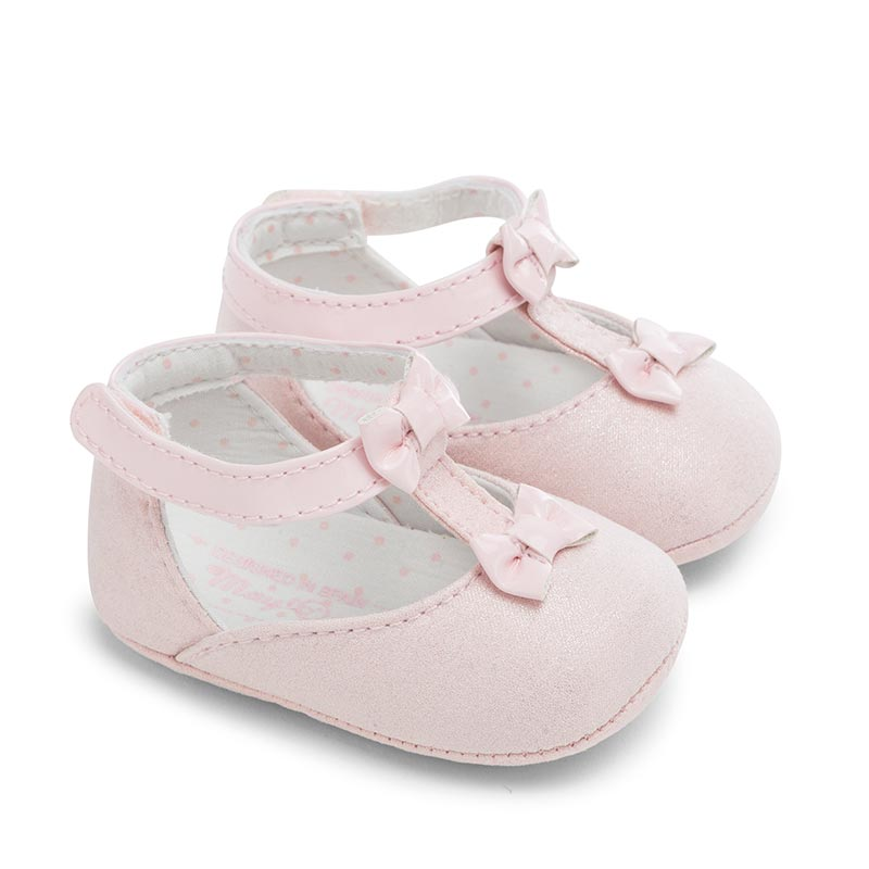 Mayoral A W16 Newborn Girls Rose Pink Suede Mary Jane Shoes Jack