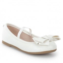 Mayoral SS16 Older Girls White Triple Bow Ballet Flats