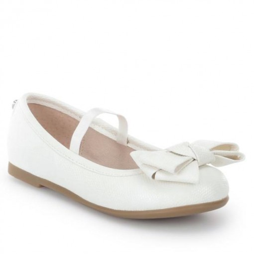 Mayoral SS16 Older Girls White Triple Bow Ballet Flats 1