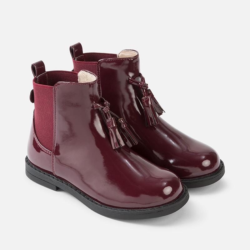 da4b81340436f Mayoral AW17 Mini Burgundy Patent Low Boots - Jack and Jill Kidswear