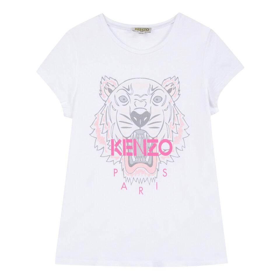 64507d2f260 Kenzo AW18 KG Tiger White Tee Shirt - Jack and Jill Kidswear
