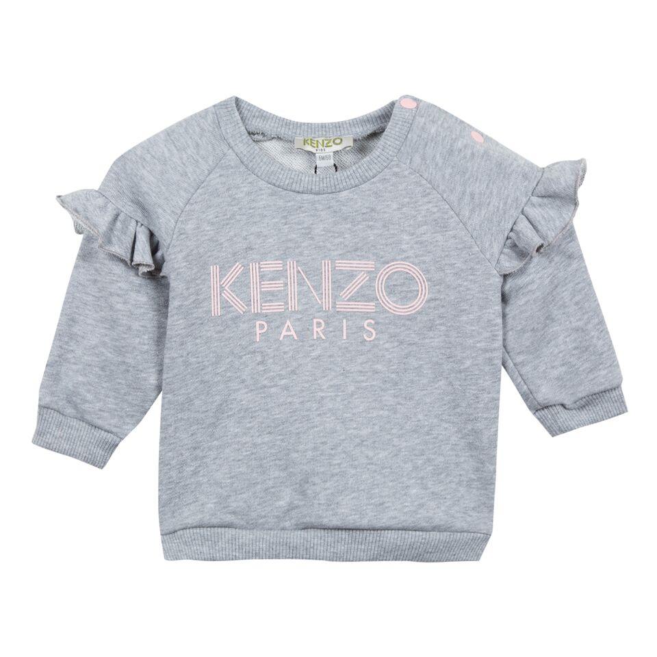 79cfafa6621 Kenzo AW18 BG Grey Sweatshirt with Kenzo Logo - Jack and Jill Kidswear