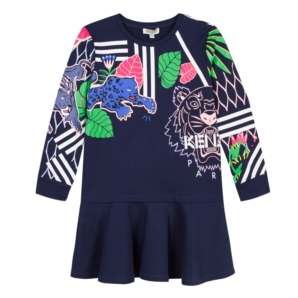 8429ae28f5d Kenzo AW18 KG Tiger Dark Blue Dress - Jack and Jill Kidswear